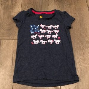 3T short sleeve horse shirt